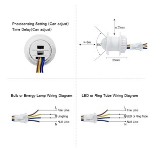 Image 5 - Vertraging Verstelbare 110V 220V Zeer Gevoelige Auto On/Off Pir Infrarood Motion Sensor Switch Mode detector Lichtschakelaar