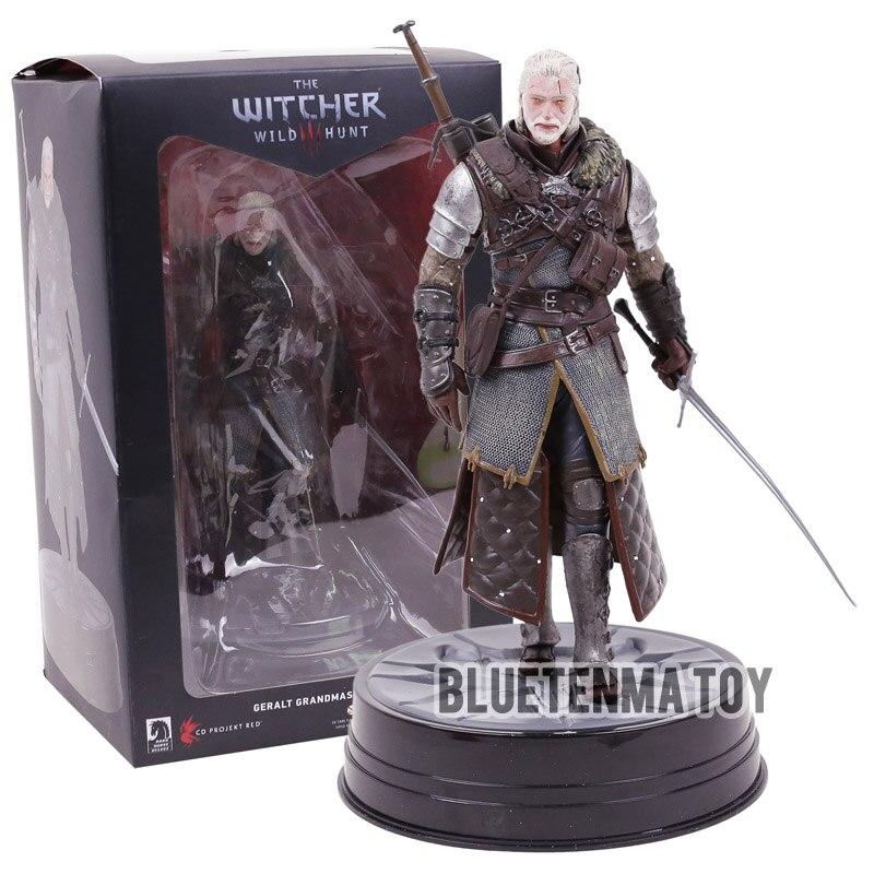 Cheval noir The Witcher 3 sauvage chasse Geralt de Rivia PVC Statue Figure à collectionner modèle jouet