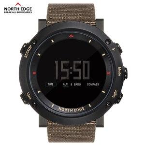 Image 4 - Esporte masculino relógio digital bandas de náilon horas running impermeável 50 m natação esporte relógios altímetro barômetro bússola masculino cor