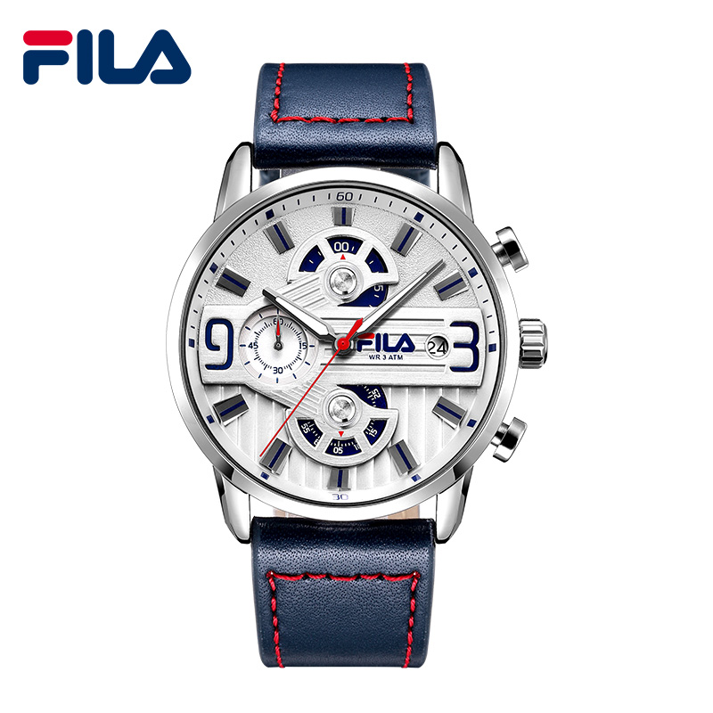 Fila Luxury Brand Men Analog Digital Leather Sports Watches Men's Army Military Watch Man Quartz Clock Relogio Masculino 609 new brand weide men sports watches mens military leather analog digital watch black relogio masculino led army wristwatch clock