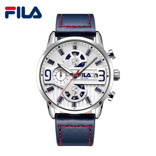 Fila Luxury Brand Men Analog Digital Leather Sports