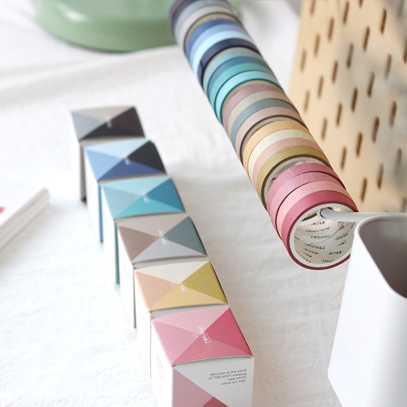 4pcs/set Japanese Decoration Kawaii Masking Rainbow Paper Diy Washi Tape Stickers Scrapbooking Cute Stationary School Supplies