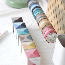4pcs/set Japanese Decoration Kawaii Masking Rainbow Paper Diy Washi Tape Stickers Scrapbooking Cute Stationary School Supplies