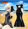 Anime Fate stay night Saber Black Swimsuit Cosplay Costume