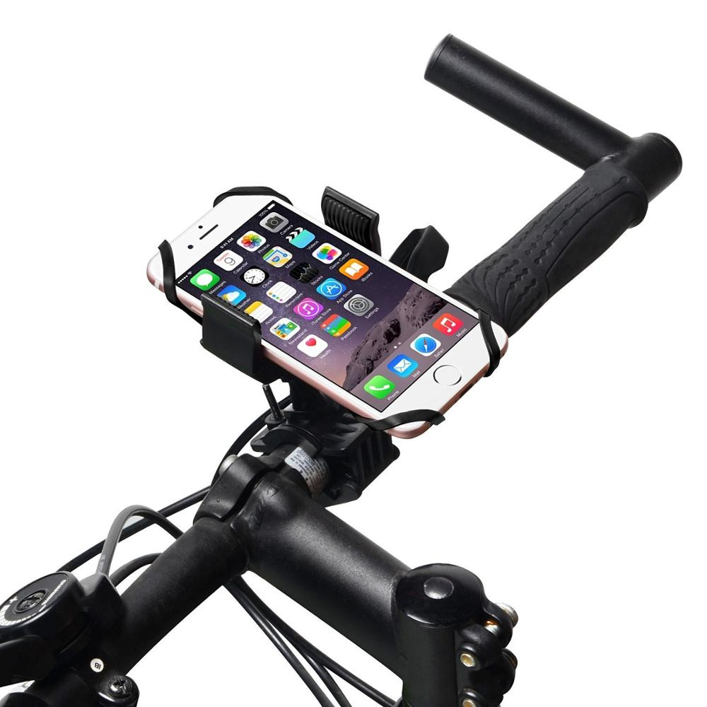 360 Dgree Rotate Mobile Phone Bicycle Handlebar Holder Cradle with Silicone Band Straps for iPhone6s 6 Plus 6Plus Samsung Note7