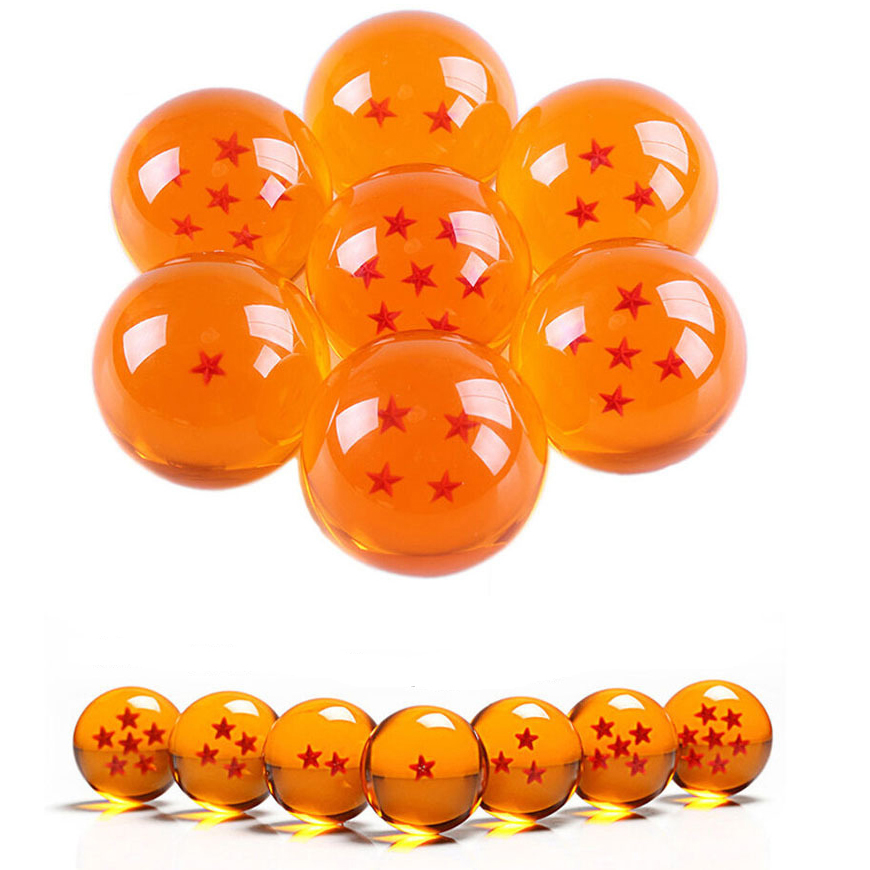 ALL SEVEN DRAGON BALL Z SUPER GOKU VEGETA 3.5 CM COMPLETE SET OF DRAGON BALLS