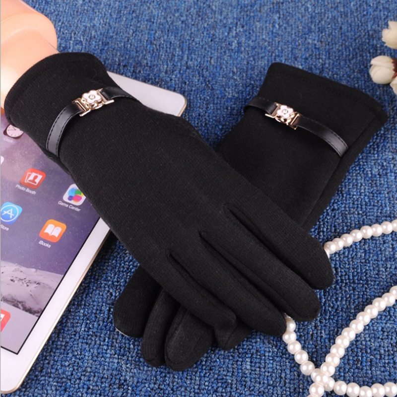 NAIVEROO Waterproof and Warm Touch Screen Gloves made of PU Leather and Conductive Fibers for Women Suitable for Spring and Winter 51