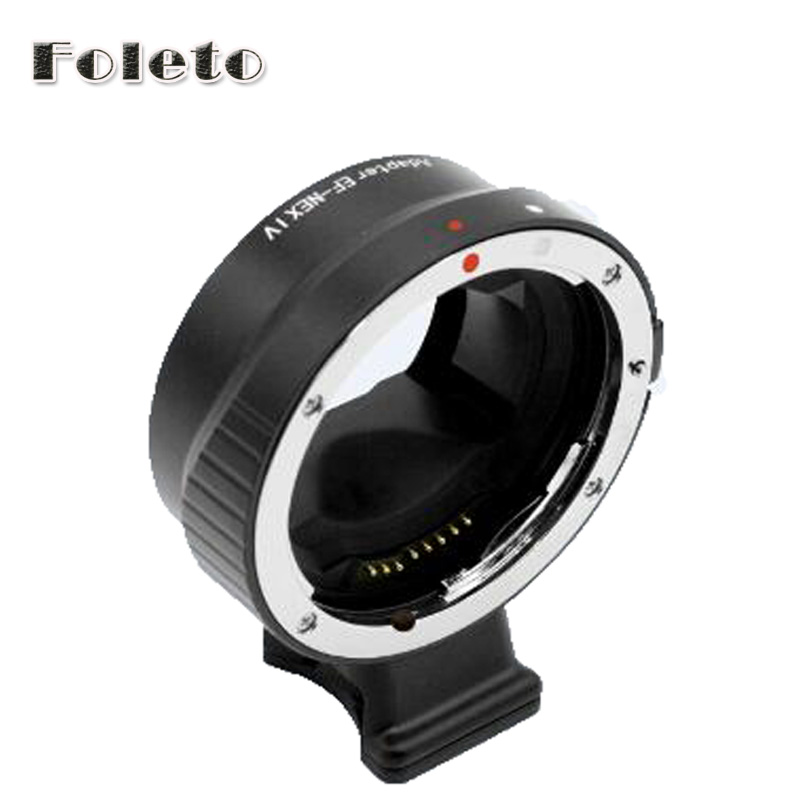 EF-NEX IV Auto Focus Lens Adapter Ring AF Confirming for Canon eos EF EF-S lens to Sony NEX E Full Frame A7 A7R II a6300 a6500 веревка edelweiss edelweiss статическая speleo 11 мм черный 1м