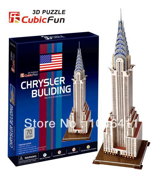 Chrysler Building CubicFun 3D educational puzzle Paper & EPS Model  Papercraft Home Adornment for christmas gift-in Puzzles from Toys & Hobbies