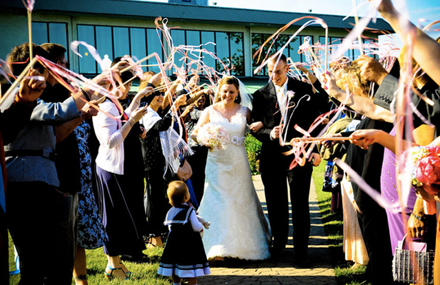 4 Pcs Ribbon Wands Wedding Decoration New Lace Magic Fairy Confetti Stream