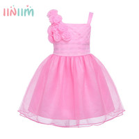 New Years Party Baby Kids Girls Charming Ball Gown Formal Dress Sleeveless Glitter Tulle Dress Princess