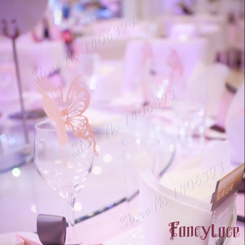Aliexpress.com : Buy 50pcs Wedding place cards for wine glass ...
