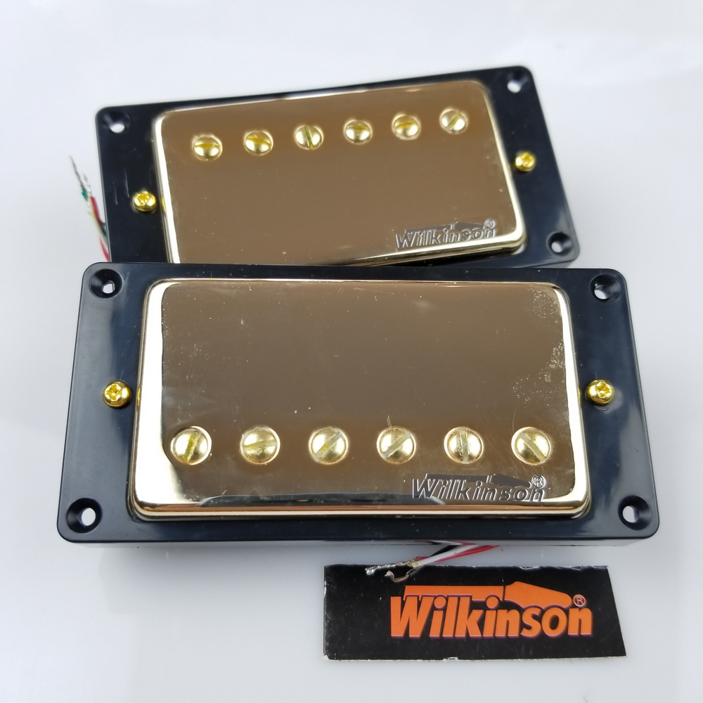 NEW Wilkinson Gold LP SG ES Electric Guitar Humbucker Pickups closed WVC Golden Cover Made In Korea wholeslale dave grohl dg335 es 335 6 string electric guitar with great logo es 335 in white 100913