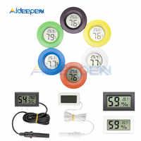 Mini Digital LCD Thermometer Hygrometer Indoor Bequem Temperatur Sensor Feuchtigkeit Meter Detektor Kühlschrank Mit Gefrierfach Tester Messgerät