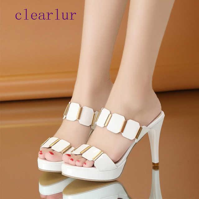 קיץ גבירותיי נעלי עקבים גבוהים נעלי נשים בוהן פתוח נעלי כלה לבנה רדוד נעלי נעלי נשים סנדלי zapatos mujer