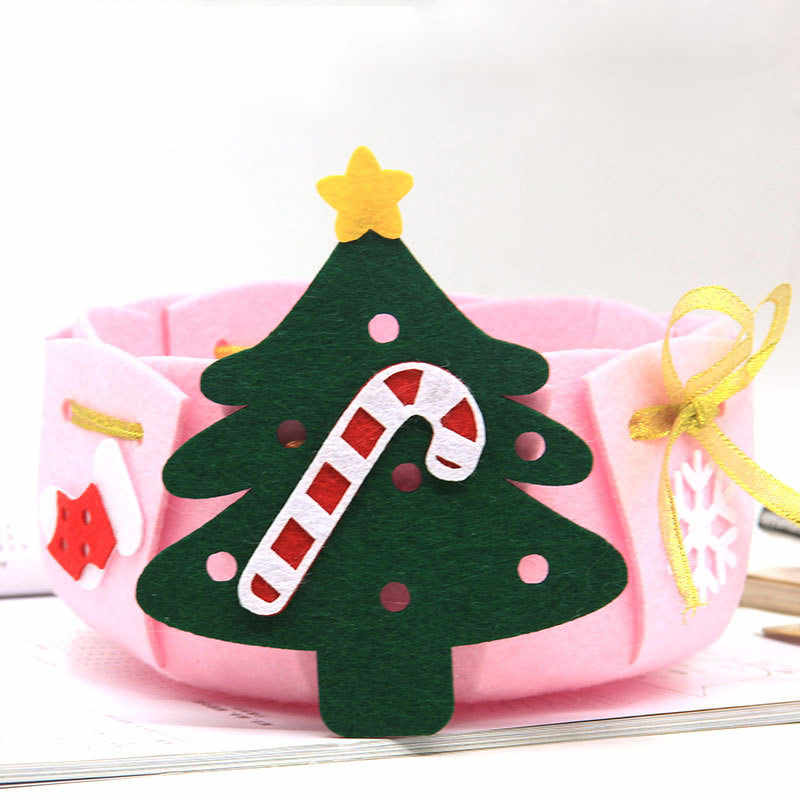 9 סגנונות חג המולד אחסון סל בקלות בעבודת יד הרגיש סל עבור בית קישוט שולחן עבודה ידנית ערכת הרגיש DIY חומר חבילה