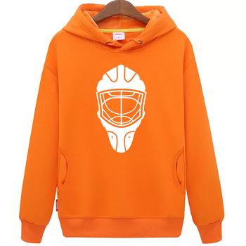 Fajne hokej na lodzie darmowa wysyłka tanie młodzieży orange hokej na lodzie bluza z kapturem z hokeja na lodzie wzór maski tanie i dobre opinie Chłopcy Flexible Pasuje mniejszy niż zwykle proszę sprawdzić ten sklep jest dobór informacji cool hockey