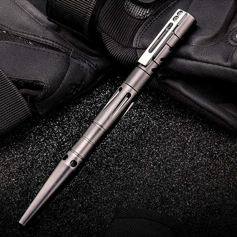 H1051 Free Shipping Outdoor Aluminum alloy+Tungsten Steel Tactical Pen Multifunctional Self Defense Pen Writing Pen edc Gadgets self defense aluminum alloy outdoor save first aid drug medicine kit small gallipot cartridge key chain fc