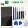 Pptv rei 7 display lcd + touch screen com ferramentas 2 k acessórios do painel de vidro digitador para pptv rei 7 6.0 polegada