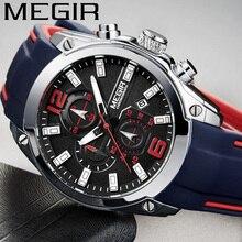 MEGIR reloj para hombre, cronógrafo deportivo, resistente al agua, de pulsera, militar, 2063