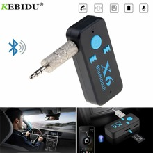 Kebidu X6 Adapter Bluetooth Receiver Auto Car Bluetooth Aux Kit Support TF Card A2DP Audio Stereo Bluetooth HandFree Receiver