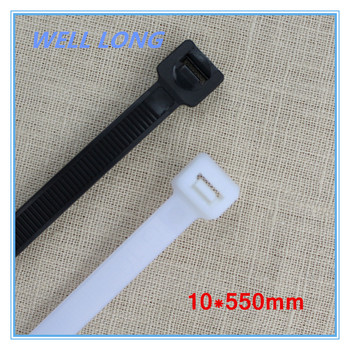 200pcs/lot 10*550mm Black White Nylon Wire Cable Zip Ties, Cable Ties.