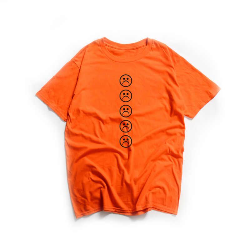Sad Face T Shirt men and women Meme Stickers Funny Sad Emoji Face Cute  Tumblr T-Shirt Short Sleeve Ringer Tees Tops