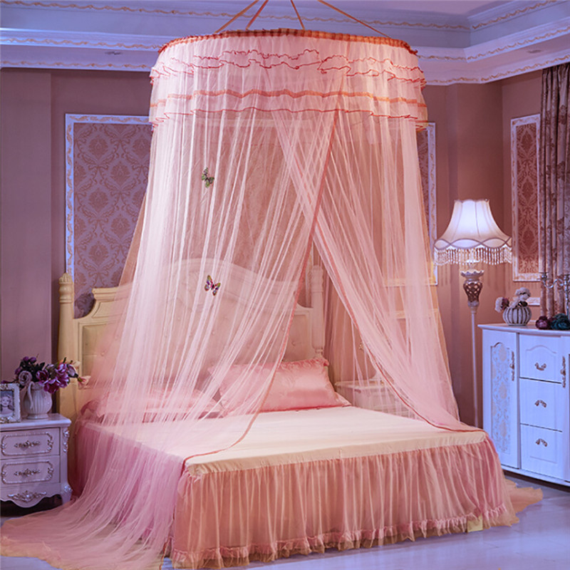 coxeer 2018 Hung Dome Luxury Mosquito Net Romantic Round Lace Purfel Butterfly Printed Princess Bed Canopy Dome Bed Tent Newest-in Mosquito Net from Home ... & coxeer 2018 Hung Dome Luxury Mosquito Net Romantic Round Lace Purfel ...
