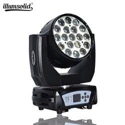 Liry mycia zoom 19x15 w z ruchomą głową światła Dmx dla Dj oświetlenie imprezowe w Oświetlenie sceniczne od Lampy i oświetlenie na