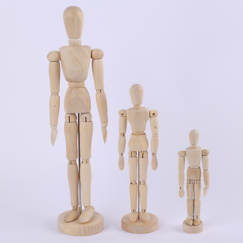 12INCH NEW Artist Movable Limbs Male Wooden Toy Figure Model Mannequin bjd Art Sketch Draw Action Toy Figures