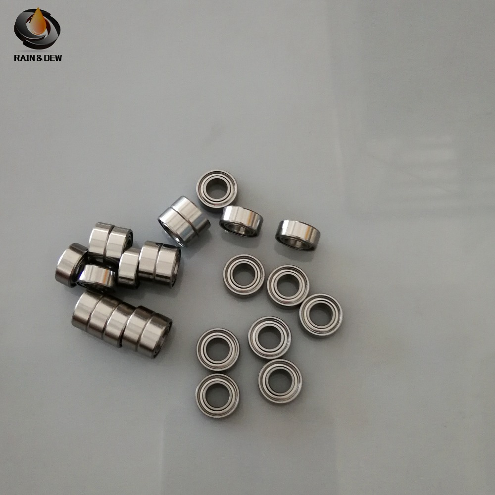 MR105zz Bearing <font><b>5*10*4</b></font> mm ( 10 PCS ) ABEC-7 Miniature MR105 Z ZZ High Precision MR105Z Ball Bearing image
