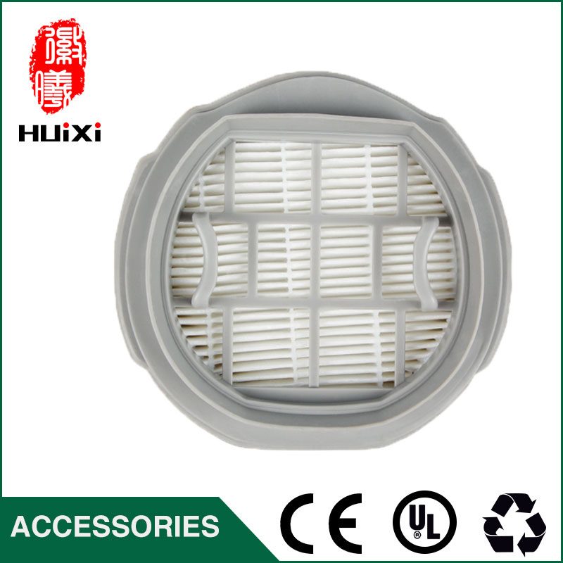 White hepa filter and plastic frame air filter for the original vacuum clean parts of vacuum cleaner hepa filter VC-S1023 142 126mm size plastic and steel wire frame hepa filter and the original of hepa vacuum cleaner parts for gy308 15l gy309 18l