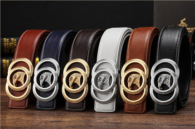 2017 New Brand Designer Belts Men High Quality Genuine Leather Automatic Buckle Belts For Men Luxury Business Casual Waistband