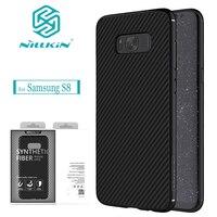 Nilkin For Samsung Galaxy S8 Case NILLKIN Carbon Synthetic Fiber Back Cover Case For Samsung Galaxy