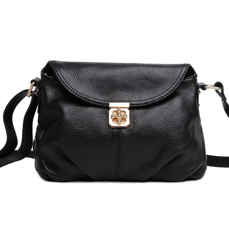 ФОТО New Arrival Genuine Leather Women Bags Crossbody Bags High Quality 6 Colors Fashion Female Shoulder Bags Zipper Handbags HB08