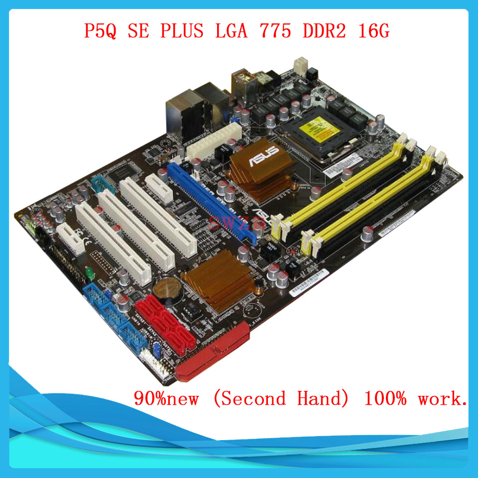 original Used Desktop motherboard For ASUS P5Q P45 SE PLUS Support Socket LGA 775 Maximum DDR2 16GB SATA2 USB2.0 ATX asus g31m s support ddr2 775 pin integrated small board g31m g31 motherboard