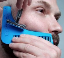 Брат-борода идеальной симметрии формирование борода гребень бритья инструментов линии профессиональный инструмент