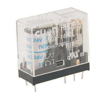 Подробнее о PCB Mount DC 24V Coil DPDT 8 Pins 2NO 2NC Power Relay HHC69A JQX-14FC free shipping dc 12v coil electromagnetic relay 8 pins dpdt 2 no 2 nc jqx 10f 2z