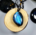 Natural crystal Labradorite pendant stone Moonstone Pendant sun stone Pendulum Divination spiritual meditation
