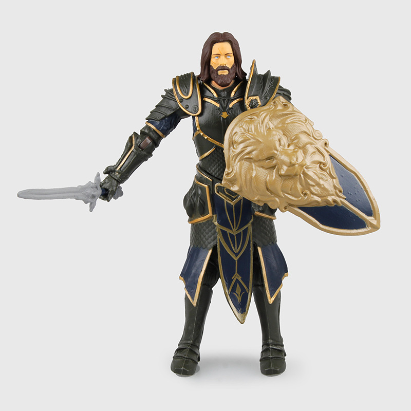 WVW 15CM Hot Sale WOW Sir Anduin Lothar Model PVC Toy Action Figure Decoration For Collection Gift цена