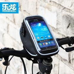 """ROSWHEEL 4,2 """"(S)/5"""" (м)/5,5 """"(L) велосипед мешок Сенсорный экран велосипед Телефон посылка черный открытый ремень езда на велосипеде сумка Quick release"""