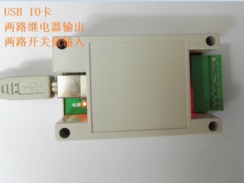 USB IO card USB relay two in two out IO serial relay MES alarm lamp controller ERP alarm image