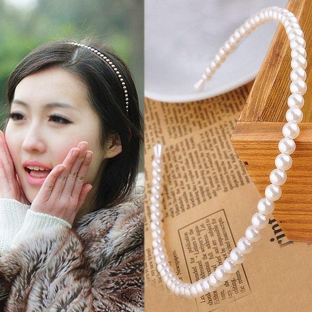1 PC Unico Accessori Per Capelli Donne Mare Partito Graceful Bella Bianco Perla Imitazione Coreano Fascia Regali Regalo di San Valentino
