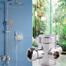 Three Head Function Switch Adapter Control Valve 3 Way Tee Connector Shower Head Diverter Valve For Toilet Bidet Shower стоимость
