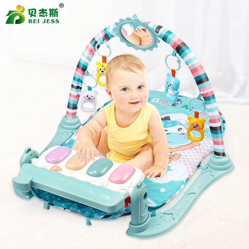 € 23.49 63% de réduction|BEI JESS tapis de jeu bébé 3 en 1 multifonction  Piano tapis développer tapis ramper enfant musique hochet grandissant jouet  ...