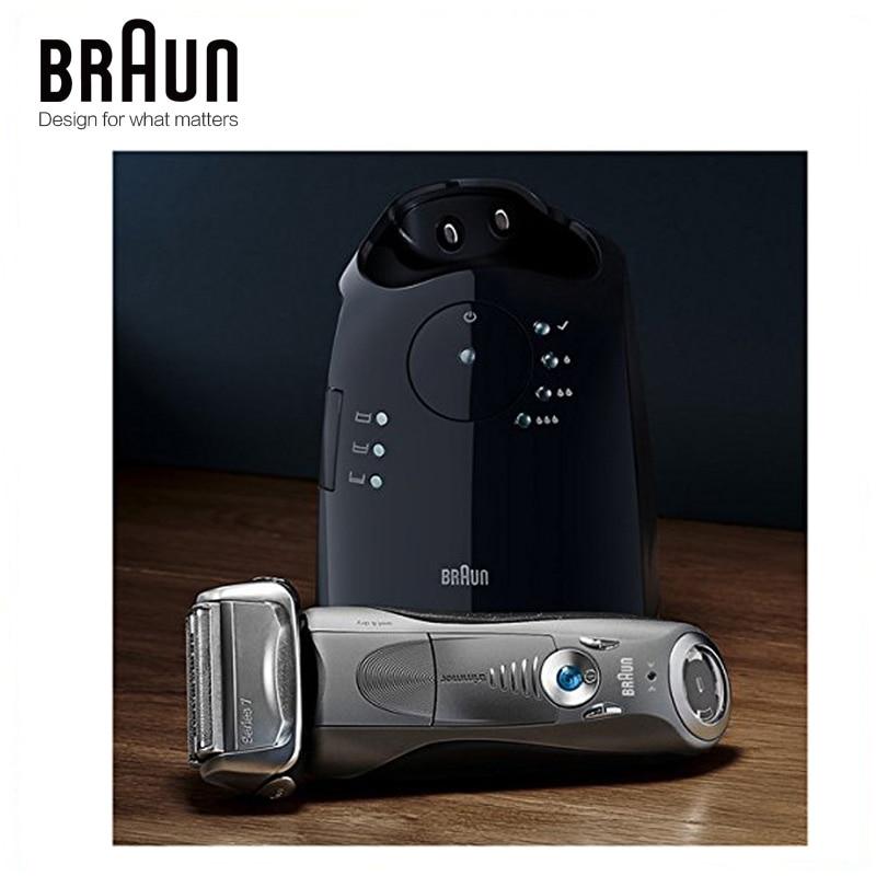 Бритвенный станок Braun электробритва 7865CC для мужчин, перезаряжаемая Серия 7, автоматическая бритва 4