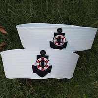 Vintage White Captain Sailor Hats Military Caps Navy Army Hat with Anchor Cosplay Dress Accessories Adult Child Military Hats