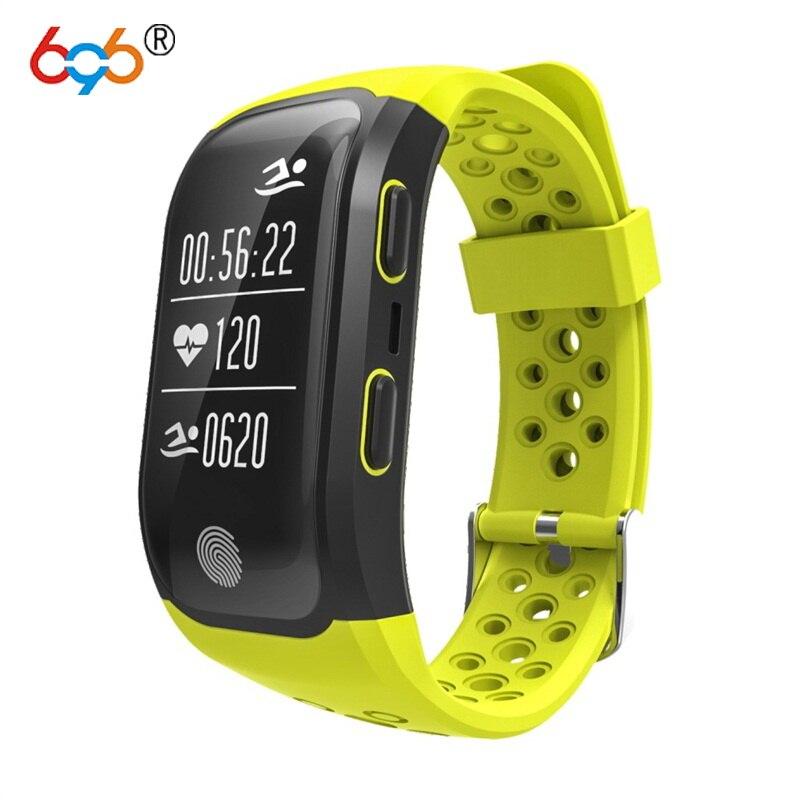 L'activité GPS Tracker Pulsomètre Montre Fitness Podomètre Rythme Cardiaque moniteur IP68 Smart Bracelet