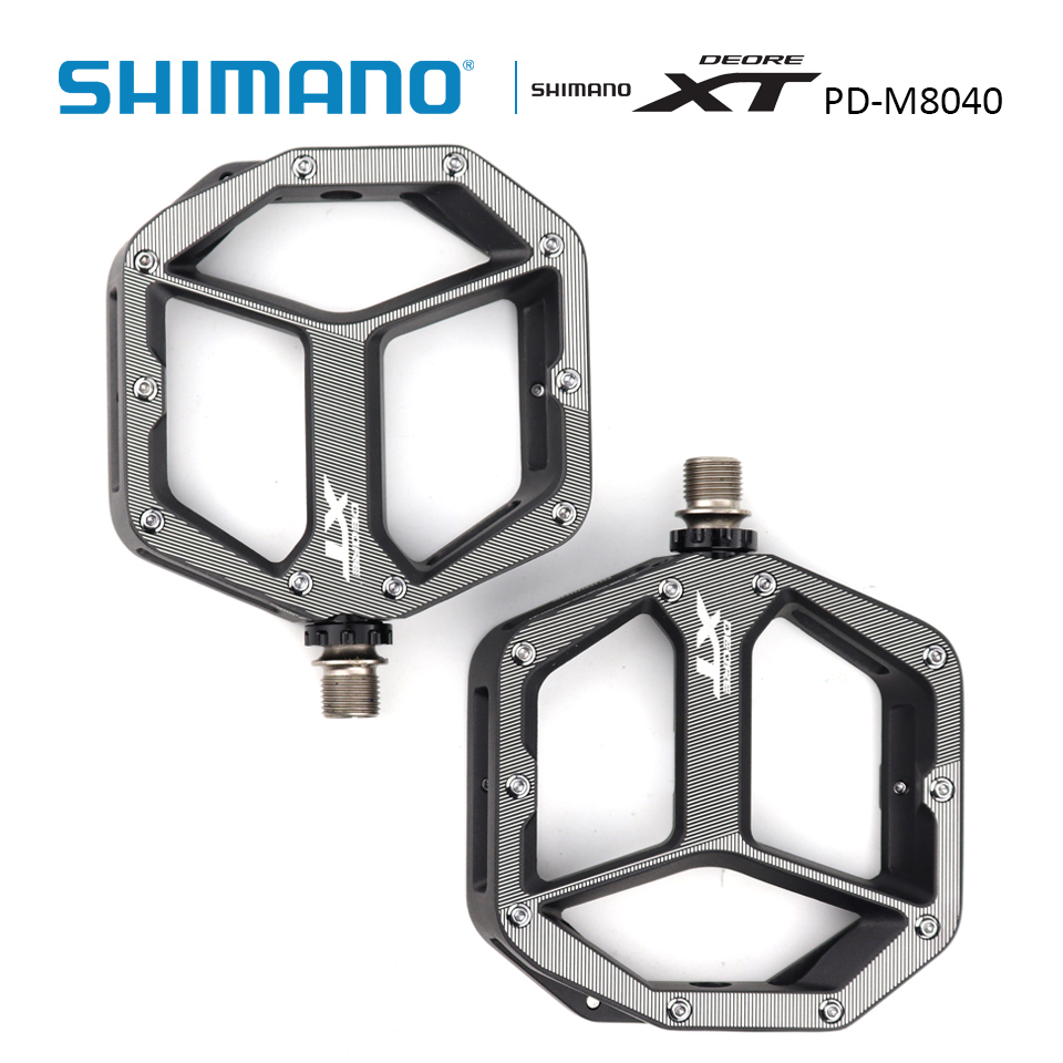 SHIMANO Bicycle Deore XT PD-M8040 Pedals MTB Bike Size S/M M/L Without Reflector