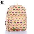 2016 New Unisex Variety Multi School Bags Canvas Cartoon Floral Interesting Backpacks Work & Leisure Travel Book Bag BP084